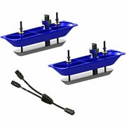 Navico Structurescanandtradehd Sonar Stainless Steel Thru-hull Transducer Pair W/y...