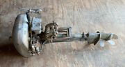 Vintage 1941 Champion Viking Twin Model 2g Outboard Motor With Owner Manual