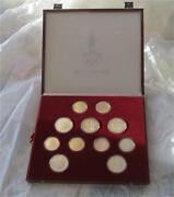 1980 Moscow Olympics Silver Coin Set 5 -10 Ruble Rouble Ruble 28 Coins Box Coa