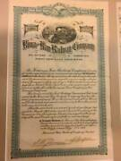 Kona Hawaii Antique Stock Certificate. Never Issued. Mint. Plus 60 Coupons