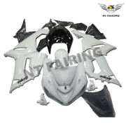 Wo White Injection Abs Fairing Fit For Kawasaki 2005-2006 Ninja Zx6r 636c X046