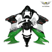 Wo Green White Injection Plastc Fairing Fit For Kawasaki 2008-2010 Zx10r X013