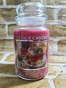 Village Candle Retired Raspberry Rose Tea Large 22 Ozrare