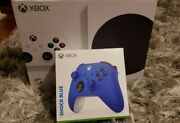 New Xbox Series S Bundle W/extra Shock Blue Controller And Nba 2k21