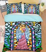 3d Our Lady Baby Nao3031 Bed Pillowcases Quilt Duvet Cover Set Queen King Fay