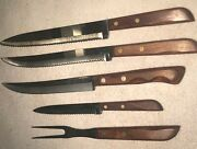 Town And Country Knives,flint Stainless Vanadium Usa Knives.the Fork Is Unbranded