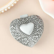 Vintage Heart Shape Jewelry Box Small Antique Ring/earrings/necklace Storagec Mw