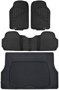 Motor Trend Flextough Performance All Weather Rubber Car Floor Mats With Cargo L