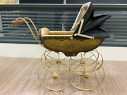 Doll Pram Baby Carriage For Small Doll Dispaly
