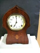 Vintage Welch/sessions Mahogany Mantel Clock. With Inlay-manchester Model