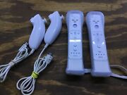 Nintendo Wii Remotes With Motion Plus Adapter Jacket And Nunchuk Official Oem G05