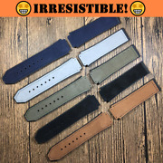 Tour Velvet Suede Leather Watch Band For Hublot Big Bang Fusion 25x19mm New