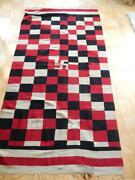 Xlarge Whirling Log Xtra Fine Antique Chimayo Blanket Weaving Rug New Mexican