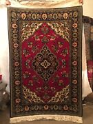 A Pair Of Fine Quality Wool And Silk Hand-knotted Rug