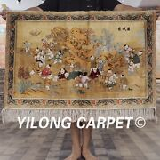 400 Lines 2'x3' Handwoven High Quality Silk Tapestry Playing Children Rug L960h