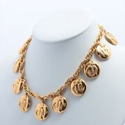 Mademoiselle Necklace Gold Plated Coins