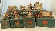Boyd's Bears And Friends Figurines Lot Of 11 The Bearstone Collection Boxes