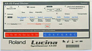Roland Decals / Stickers / Labels In Spanish For Roland Ax-09 Lucina Synthesizer
