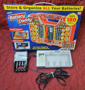 New Battery Daddy Organizer Storage System Case W/ Tester And 2 Energizer Chargers