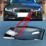 For Audi A5 2008-2012 Left Side Headlight Lens Cover + Sealant Glue Replace