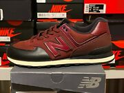 New Balance Menand039s Ml574lhb Classic Black/ Burgundy Iconic 574v2 Sneakers Sz 10