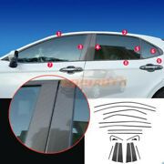 Fit For Toyota Camry 2018-2021 Carbon Fiber Steel Car Window Strip Cover Trim18