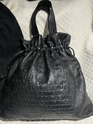 Unlimited 31 Rue Cambon Large Embossed Leather Drawstring Tote Authentic