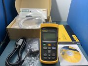 Fluke Calibration 1524 Dual Channel Reference Thermometer W/ Probe Calibrated
