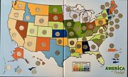America The Beautiful Quarters 56 Andldquopandrdquo Coin Set In Map Folder Incredibly Nice