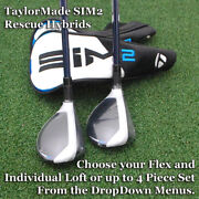 Taylormade 2021 Sim2 Max Rescue Hybrids - Choose Individual Or Set And Flex - New