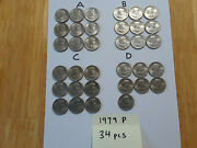 1979-p Susan B Anthony 1 One Dollar Coins 34 Philadelphia Circulated A87