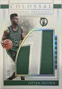 Jaylen Brown Rookie 2016 National Treasures Colossal Patch D 1/3 Rc Ebay 1/1