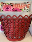 Kate Spade Med. Dorie Hot Chili Red Interlocking Spades Leather Bucket Bag, Nwt