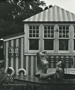 1990s Vintage Bruce Weber Outdoor Female Nude Hot Tub Photo Engraving Art 16x20