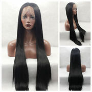 30inch Brazilian Glueless Full Lace Wig 150 Density Silky Straight Natural 1b