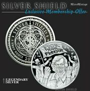 Silver Shield 1 Oz Proof | 2021 | Ussa 2020 Series 17 - Fk Your Freedom