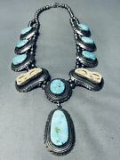 Benny Boyd Vintage Navajo Turquoise Sterling Silver Necklace Old