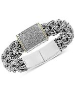 Effy Diamond Bracelet 1/2 Ct. T.w. In Sterling Silver And And 18k Gold 7