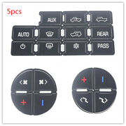 5-pack Ac Button Repair Kit Decal Stickers Dash Replacement For 07-14 Gm
