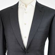 New 4995 Brioni And039colosseoand039 2 Button Flat Front Charcoal Menand039s Suit Us 44r