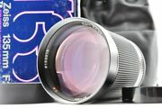 Top Mint Contax Zeiss Planar T 135mm F/2 With Box Mmg Made In Germany  135 2.0