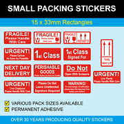 Urgent Live Creatures - Small Red Packing Stickers / Sticky Labels