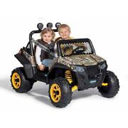 Kids Battery Powered Car 12-volt Girls Ride-on Electric Camo Ranger Jeep Rzr Toy