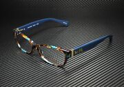 Coach Hc6078 5337 Teal Confetti Teal Demo Lens 52 Mm Womenand039s Eyeglasses