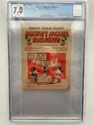 Mickey Mouse Magazine Dairy Giveaway 1 1933 7.0 F-vf Cgc Rare First Issue