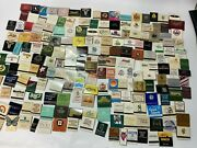 Vintage Lot Of 300 Match Books Mostly Restaurants And Hotels