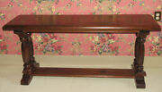 Ethan Allen Antiqued Old Tavern Pine Sofa Table 12 9120 Made In Usa Hard To Find