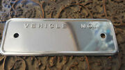 Dodge Plymouth Desoto Chrysler Vehicle No. Data Plate Stamped Stainless Steel