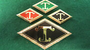 Diamond T Truck Radiator Hood Medallion Gold Plated Red Black And Green Choice