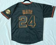 Majestic Willie Mays Xl Signed Authenticated Holo San Francisco Giants Jersey
